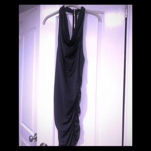Navy super sexy zipper dress